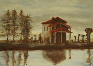 alba di primavera in risaia